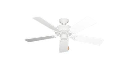 """42"""" Dixie Belle Pure White with 42"""" Pure White Gloss Blades"""