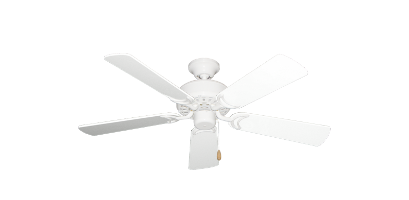 """Picture of 42"""" Dixie Belle Pure White with 42"""" Pure White Gloss Blades"""