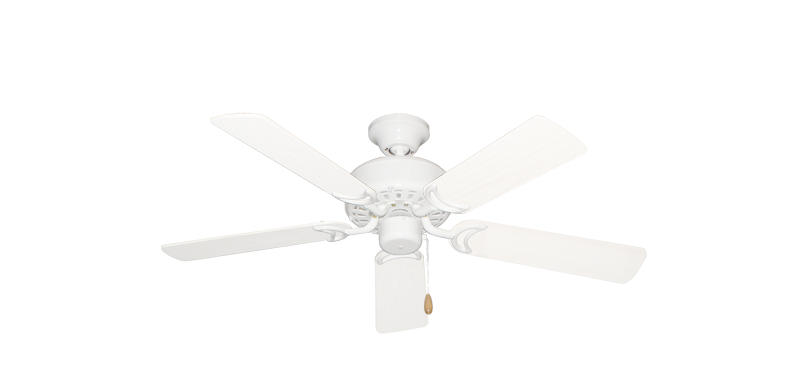 """Picture of 42"""" Dixie Belle Pure White with 42"""" Outdoor Pure White Blades"""