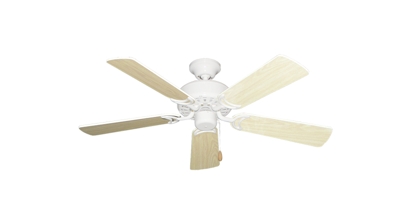 """Picture of 42"""" Dixie Belle Pure White with 42"""" Bleached Oak Gloss Blades"""