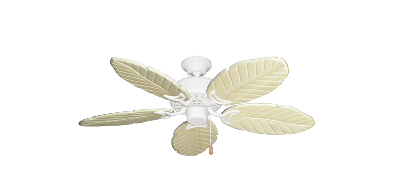 """Picture of 42"""" Dixie Belle Pure White with 42"""" Series 150 Arbor Whitewash Blades"""