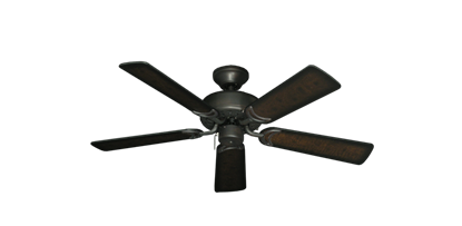 """42"""" Dixie Belle Oil Rubbed Bronze with 42"""" Distressed Walnut Blades"""