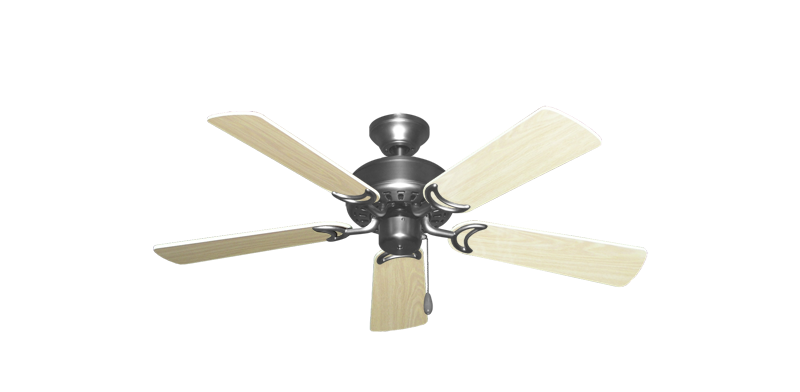 """Picture of 42"""" Dixie Belle Satin Steel with 42"""" Bleached Oak Gloss Blades"""