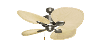 "Picture of Palm Breeze II Satin Steel with 48"" Natural Palm Blades"