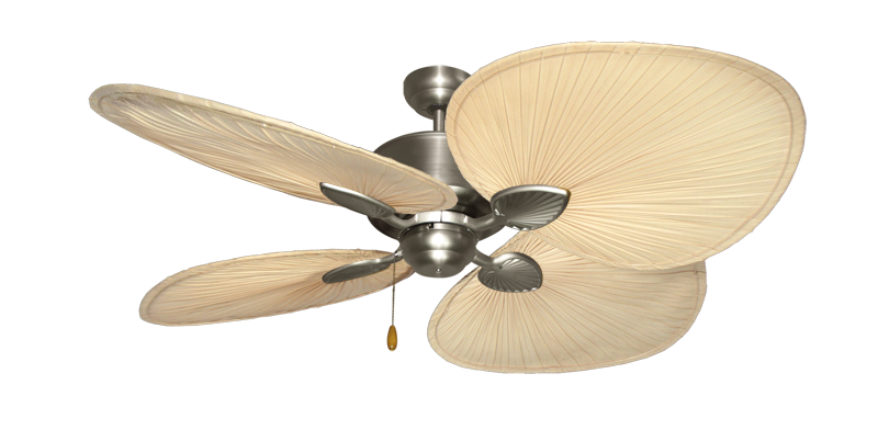 """Picture of Palm Breeze II Satin Steel with 54"""" Natural Palm Blades"""
