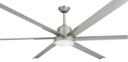 "Titan Brushed Nickel with 84"" Aluminum Brushed Nickel Blades"