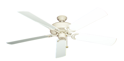 """Picture of Riviera Antique White with 60"""" Outdoor Pure White Blades"""