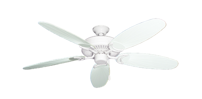 "Picture of Riviera Pure White with 52"" Outdoor Leaf Pure White Blades"