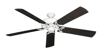 """Picture of Riviera Pure White with 60"""" Outdoor Oil Rubbed Bronze Blades"""