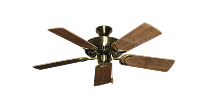 "Picture of Riviera Antique Brass with 44"" Walnut Gloss Blades"