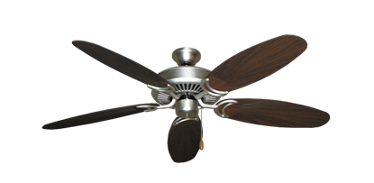 """Picture of Riviera Satin Steel with 52"""" Outdoor Leaf Oil Rubbed Bronze Blades"""