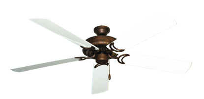 """Picture of Riviera Burnished Copper with 60"""" Outdoor Pure White Blades"""