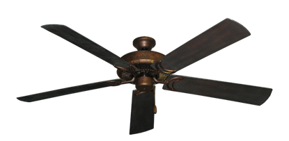 """Picture of Riviera Burnished Copper with 60"""" Outdoor Oil Rubbed Bronze Blades"""