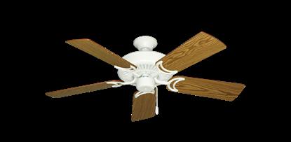"Picture of Riviera Matte Pure White with 44"" Oak Blades"