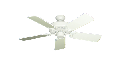 """Picture of Riviera Matte Pure White with 44"""" Antique White Gloss Blades"""
