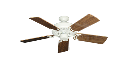 """Picture of Riviera Matte Pure White with 44"""" Walnut Gloss Blades"""