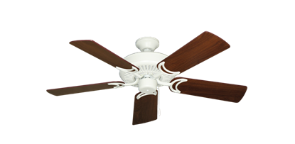 """Picture of Riviera Matte Pure White with 44"""" Walnut Blades"""