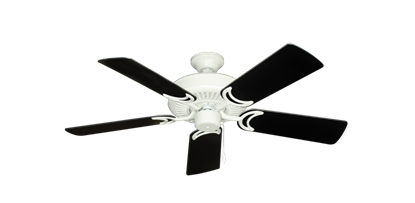 "Picture of Riviera Matte Pure White with 44"" Black Blades"