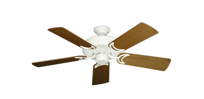 """Picture of Riviera Matte Pure White with 44"""" Light Oak Blades"""