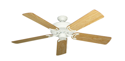 """Picture of Riviera Matte Pure White with 52"""" Maple Blades"""
