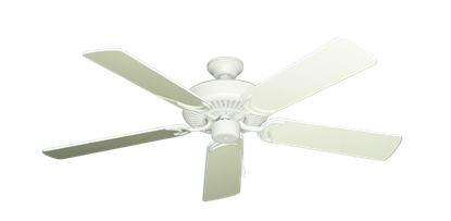 """Picture of Riviera Matte Pure White with 52"""" Antique White Gloss Blades"""