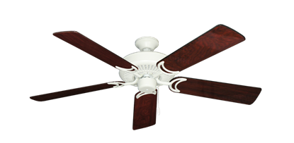 """Picture of Riviera Matte Pure White with 52"""" Cherrywood Gloss Blades"""