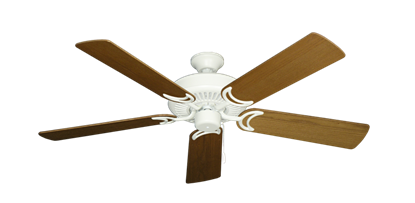 """Picture of Riviera Matte Pure White with 52"""" Light Oak Blades"""