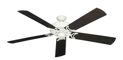 """Picture of Riviera Matte Pure White with 60"""" Outdoor Oil Rubbed Bronze Blades"""