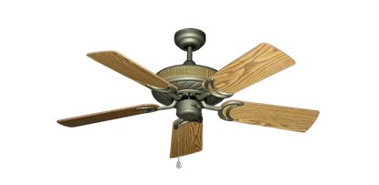 """Picture of Atlantis Antique Bronze with 44"""" Oak Gloss Blades"""