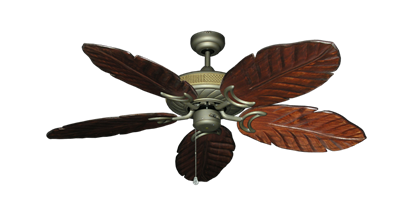 "Picture of Atlantis Antique Bronze with 52"" Series 125 Arbor Cherrywood Blades"