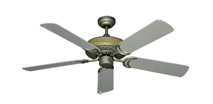 """Picture of Atlantis Antique Bronze with 52"""" Outdoor Brushed Nickel Blades"""