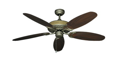 """Picture of Atlantis Antique Bronze with 52"""" Outdoor Leaf Oil Rubbed Bronze Blades"""