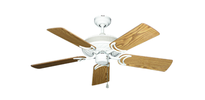 """Picture of Atlantis Pure White with 44"""" Oak Gloss Blades"""