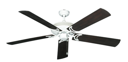 """Picture of Atlantis Pure White with 60"""" Outdoor Oil Rubbed Bronze Blades"""