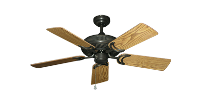"Picture of Atlantis Oil Rubbed Bronze with 44"" Oak Gloss Blades"