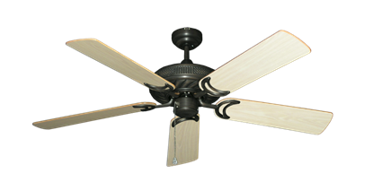 """Atlantis Oil Rubbed Bronze with 52"""" Bleached Oak Gloss Blades"""