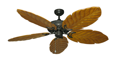 "Atlantis Oil Rubbed Bronze with 58"" Series 100 Arbor Oak Blades"