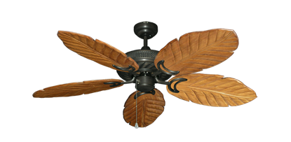 "Picture of Atlantis Oil Rubbed Bronze with 52"" Series 125 Arbor Oak Blades"