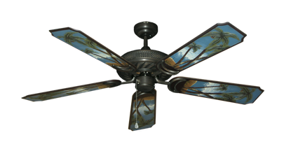 """Picture of Atlantis Oil Rubbed Bronze with 52"""" Series 351 Arbor Palm Tree Blades"""