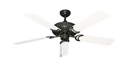 """Atlantis Oil Rubbed Bronze with 52"""" Outdoor Pure White Blades"""