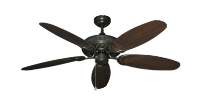 "Picture of Atlantis Oil Rubbed Bronze with 52"" Outdoor Leaf Oil Rubbed Bronze Blades"