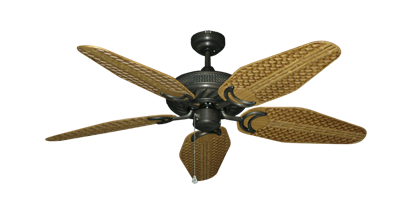 "Picture of Atlantis Oil Rubbed Bronze with 52"" Outdoor Weave Walnut Blades"