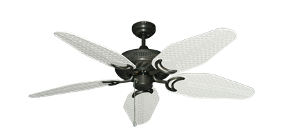 """Atlantis Oil Rubbed Bronze with 52"""" Outdoor Weave Pure White Blades"""
