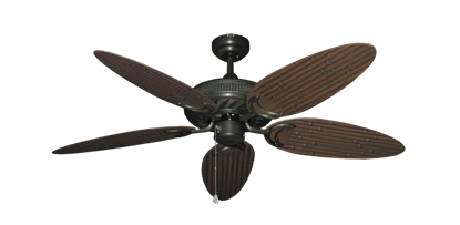 "Picture of Atlantis Oil Rubbed Bronze with 52"" Outdoor Bamboo Oil Rubbed Bronze Blades"