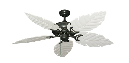 """Picture of Atlantis Oil Rubbed Bronze with 52"""" Venetian Pure White Blades"""