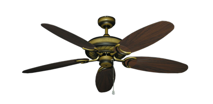 "Picture of Atlantis Tiger's Eye with 52"" Outdoor Leaf Oil Rubbed Bronze Blades"
