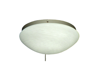 Picture of 167 Low Profile Light Fixture with Oval White Scavo Glass