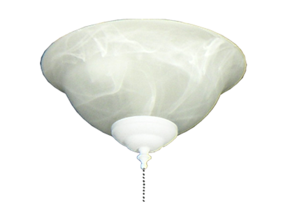 130 Glass Bowl Light in White Scavo
