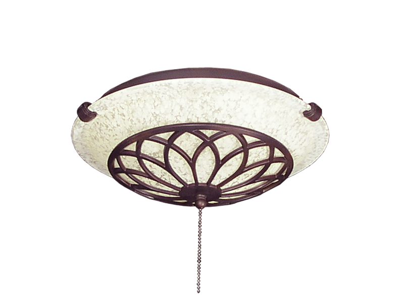 Picture of 175 Ornate Oil Rubbed Bronze Glass Bowl Light