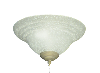 178 Textured White Glass Bowl Light